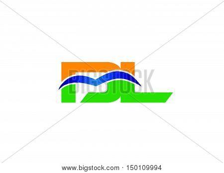DL company linked letter logo design vector template