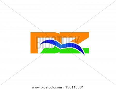 DZ company linked letter logo design vector template