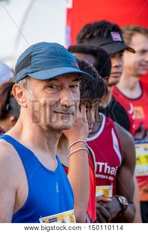 Thailand, Khaoyai - October 2, 2016,Trail series 2016 of tiger balm. It is trail runner event in khaoyai at Thailand. Now,the sport of trail runner is popularity in Thailand.