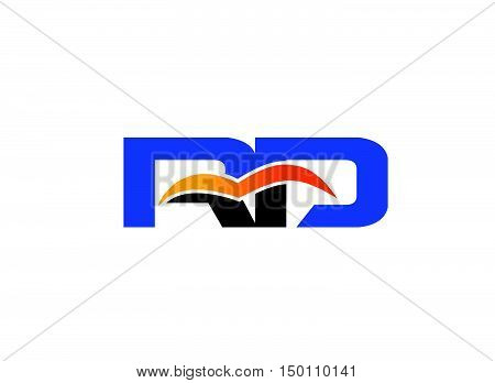 Letter R and D logo design vector template
