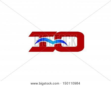 iO company logo.iO company logo design vector template