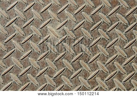 the old metal diamond plate beautiful background