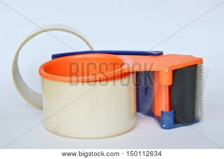 tape disperser for seal box on white background