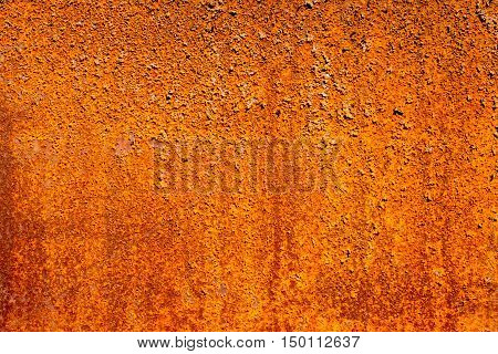 Background texture of Rusted steel  in the garden
