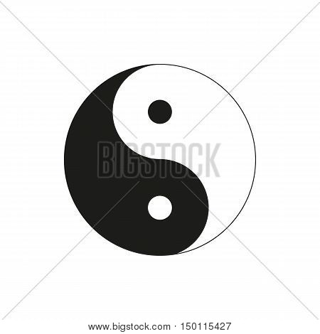 Ying yang symbol of harmony and balance isolated on white background. Elements for company print products page and web decor. Vector illustration.