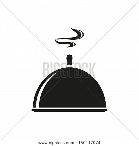 Tray kitchenware trey isolated tray vector closed tray. simple black icon isolated on white background. Elements for company print products page and web decor. Vector illustration.