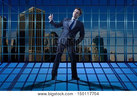 Businessman standing in business concept