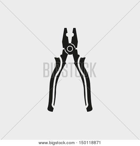 pliers icon stock vector illustration flat design