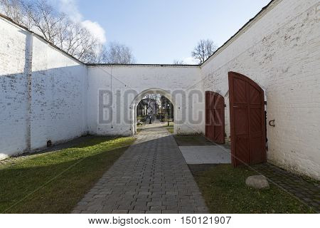 The prison on the territory of St. Euthymius monastery in Suzdal. Golden Ring of Russia Travel