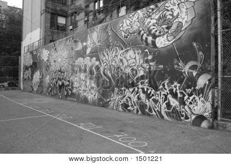 Graffiti Wall schwarz & weiß