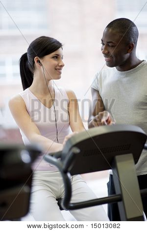 Biking With Personal Trainer