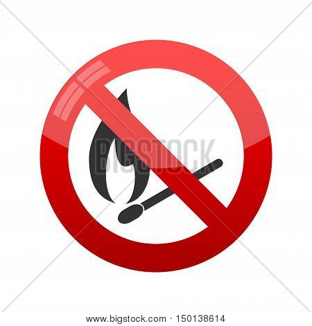No Match Sign, Vector illustration on white background