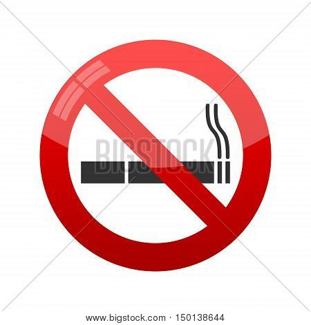 No smoking sign. Vector isolated on white background