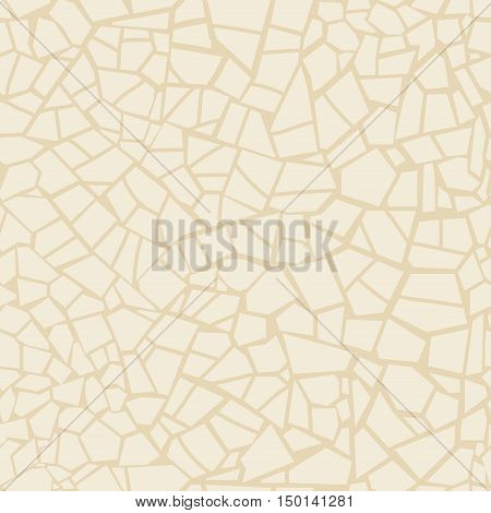 Vector seamless stone pattern. Abstract mosaic pattern. Beige color. Brown stone seamless background. For design and decorate path, wall, backdrop. Masonry endless texture,