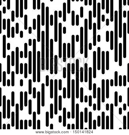 Vector Line Pattern. Minimal Monochrome Design. Seamless Lined Paper Background. Fine Print Texture