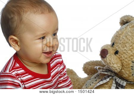 Baby met Teddy beer