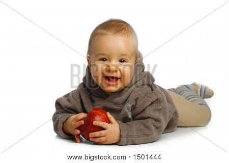 Kleine jongen met Apple