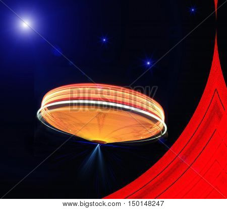 The Ufo Flying on Earth at night