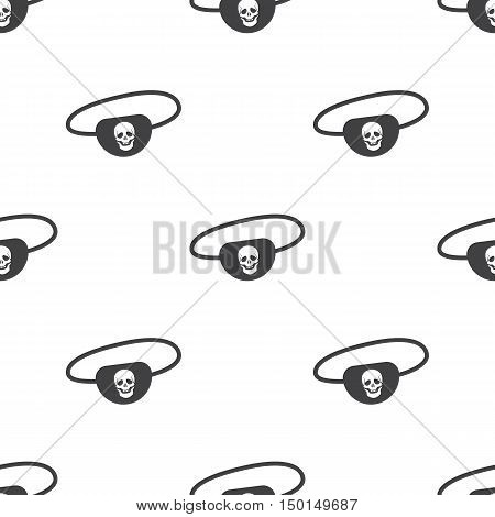 pirate bandages icon on white background for web