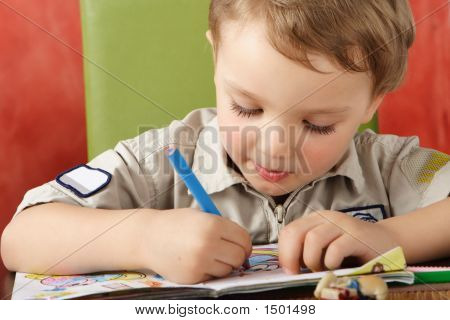 Three Years Old Caucasian Boy.