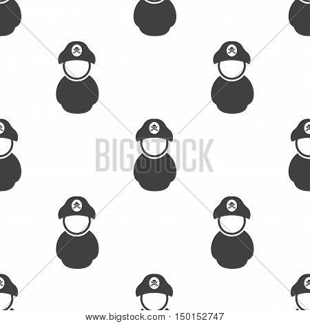 pirate icon on white background for web
