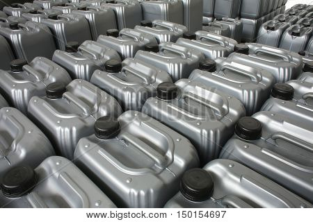 The a Lubricating oil in typical containers