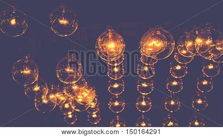 beautyful electrict light bulb low key style