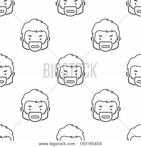 angry face icon on white background for web