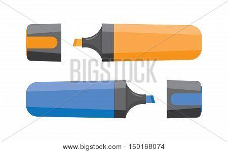 Marker on white background., highlighter icon set. Marker pen. Vector illustration