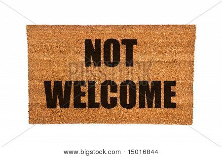 Doormat With Not Welcome Text