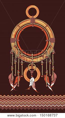 Native American Dreamcatcher protective amulet from the ropes and beads