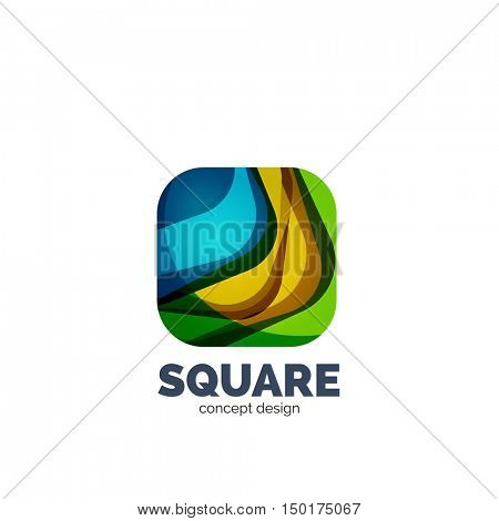 Vector abstract square logo, business icon