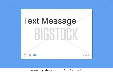 Text Message Social Network SMS Concept
