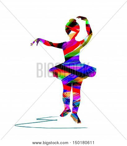 vector ballerina silhouette on a white background