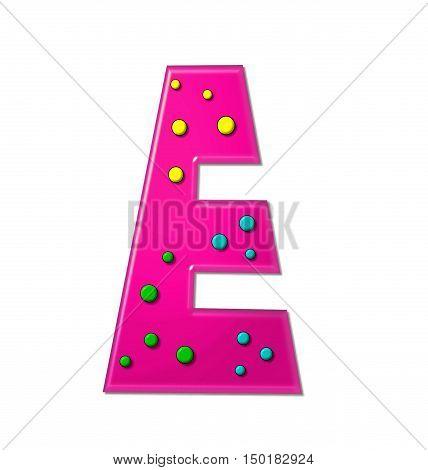Alphabet Polka Dot Party E