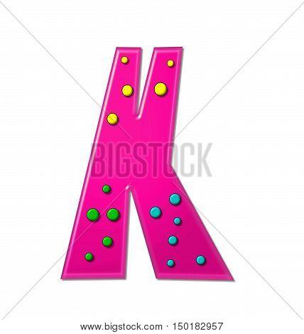 Alphabet Polka Dot Party K