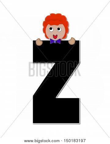 Alphabet Children Expressions Z