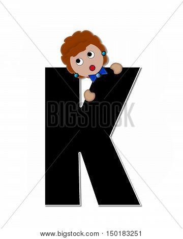 Alphabet Children Expressions K