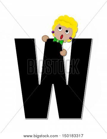 Alphabet Children Expressions W