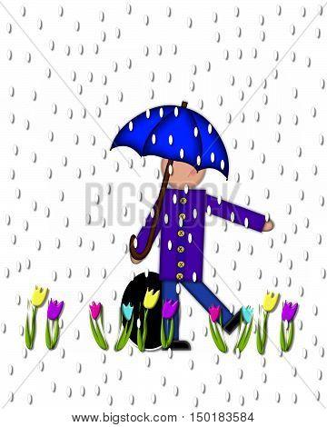 Alphabet Children April Showers Period