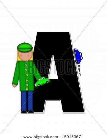 Alphabet Children Automobiles A