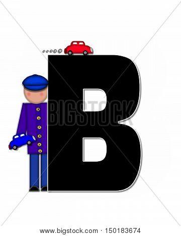 Alphabet Children Automobiles B