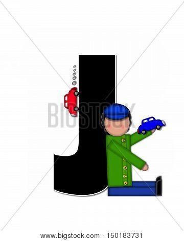 Alphabet Children Automobiles J