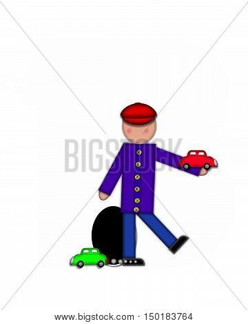Alphabet Children Automobiles Period