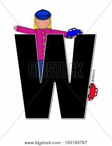 Alphabet Children Automobiles W