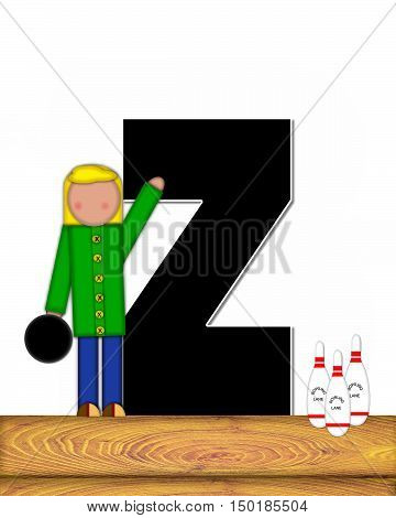 Alphabet Children Bowling Lane Z