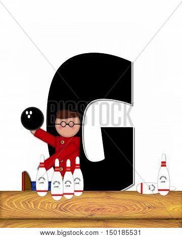 Alphabet Children Bowling Lane G