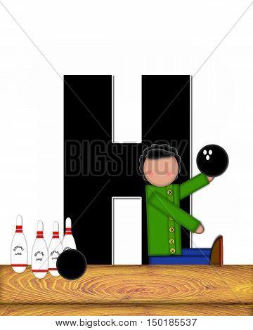 Alphabet Children Bowling Lane H