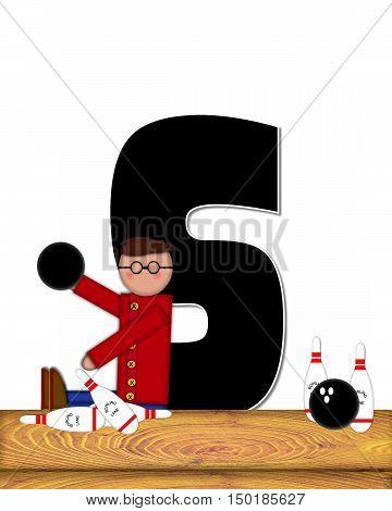 Alphabet Children Bowling Lane S