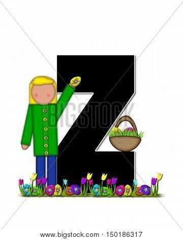 Alphabet Children Easter Egg Hunt Z